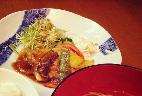 桃豚の生姜焼き