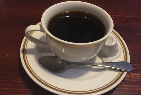 食後のコーヒー。