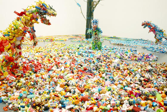 藤浩志さんのプロジェクト「かえっこ」の展示が行われています!