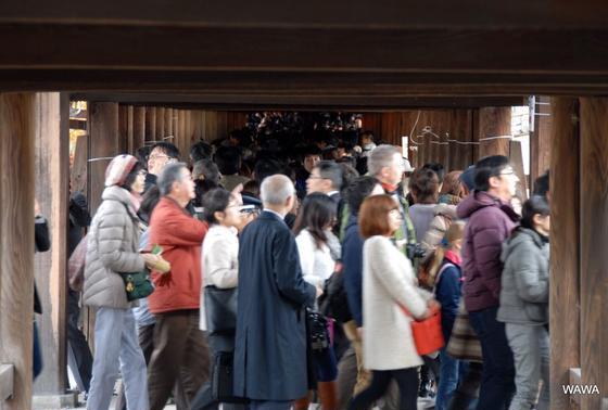 東福寺通天橋への混雑