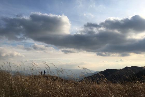 雲とススキ