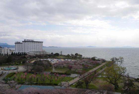 長浜城天守からの眺め