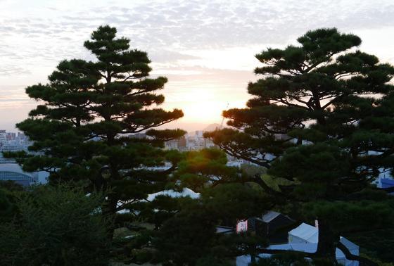 日の出が綺麗に見える
