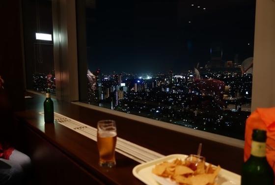 夜景を見ながらのディナー♡