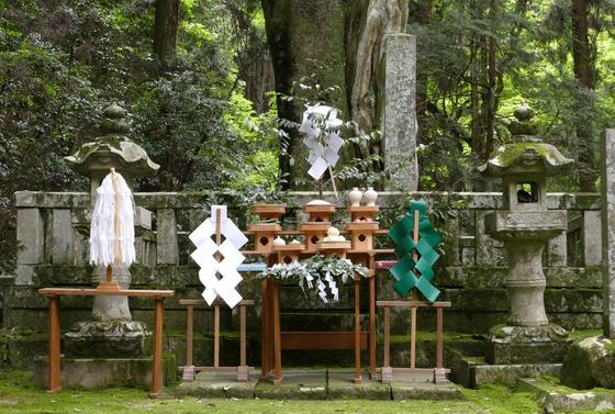 墓前祭の時の祭壇
