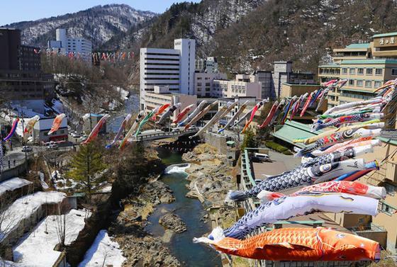 5月には大量の鯉のぼり