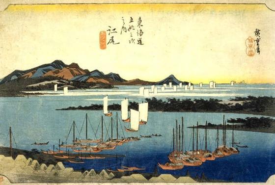 歌川広重「江尻宿」