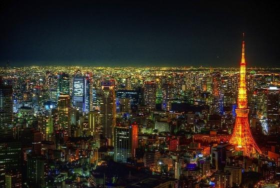 都会の夜景を堪能