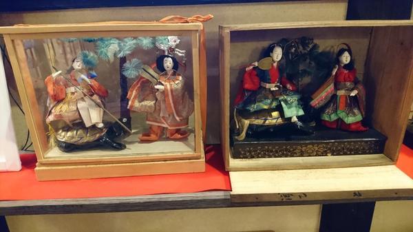 人形は浦島太郎だとか 歴史的価値のあるもので、
