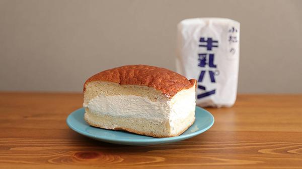 クリームたっぷりな牛乳パン