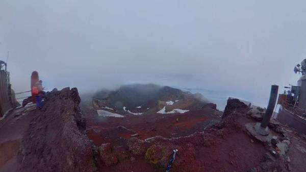 富士山頂 剣ヶ峰360°写真