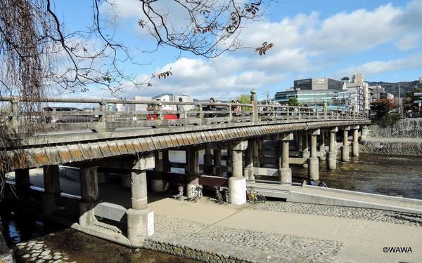 三条大橋西詰 旧三条大橋石柱 高札場跡