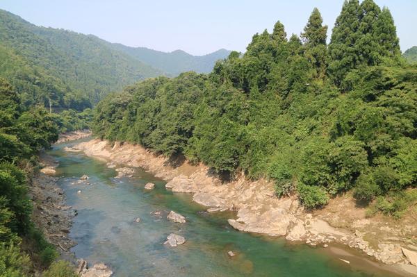 橋から見下ろす由良川
