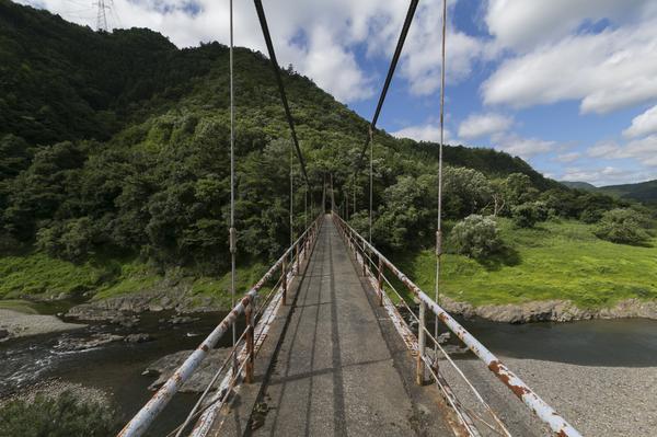 写真は橋の上で!