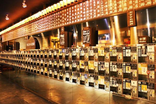 これ全部日本酒の試飲マシーン😍