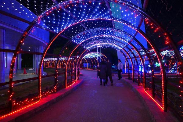 おなじみ光のトンネル