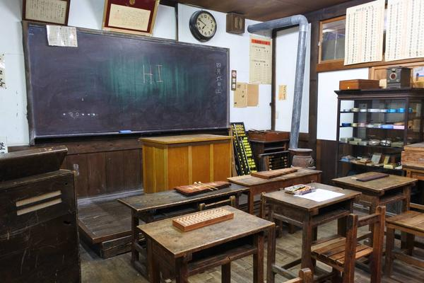 昔の教室ですね
