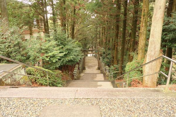 今山八幡宮御社殿~東参道入口の階段