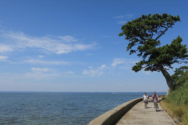 島の反対側の景色が最高