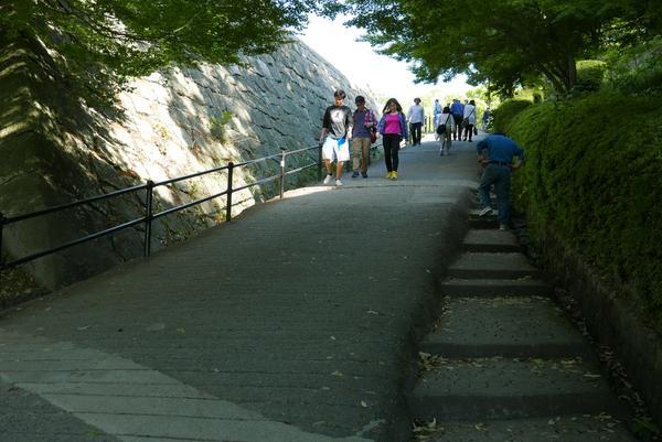 登城は徒歩のみ
