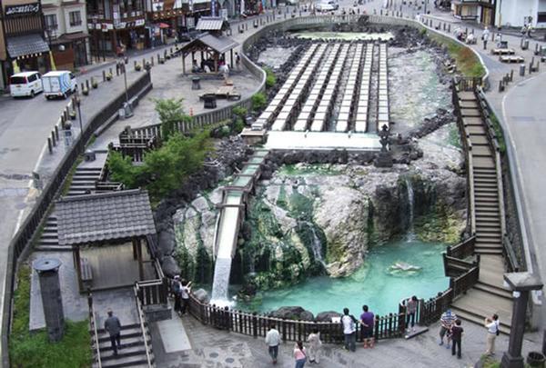 草津温泉 湯畑(◎-◎;)