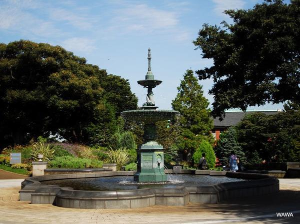 港の見える丘公園の噴水