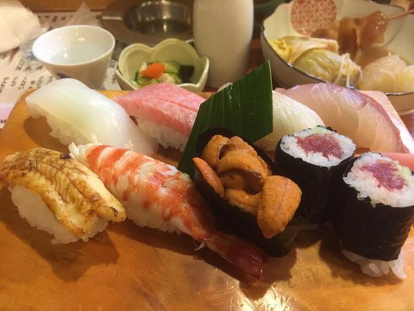 お寿司も美味しい