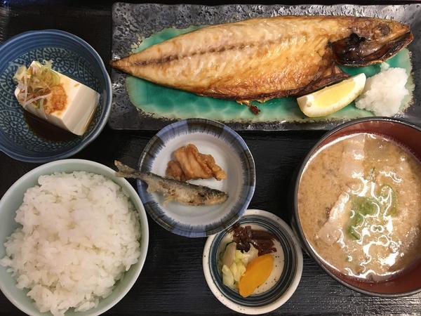 焼き魚定食(サバ) ¥950