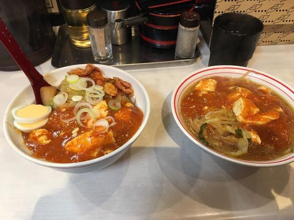 半蒙古丼、半ラーメンセット