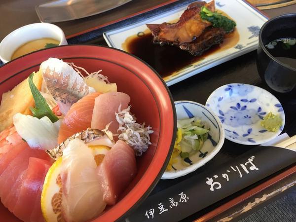 海鮮丼と金目鯛の煮付けセット