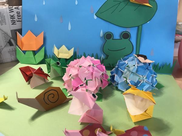 テーマ 梅雨🐸立体折り紙