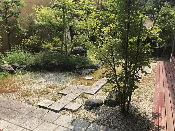 庭園&喫煙所