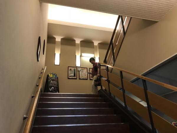 湯処までの階段
