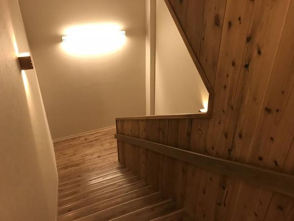 木目を生かした階段