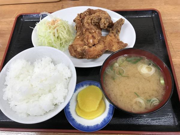 唐揚げ定食 ¥800