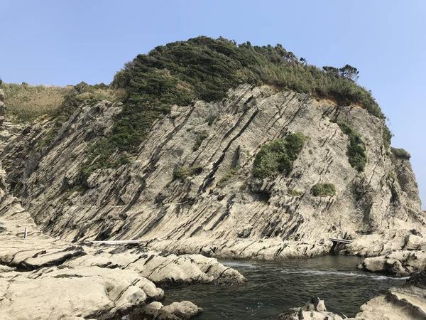 断崖のオンパレード