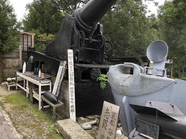 戦争博物館 入場門付近 展示