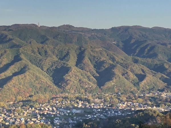 宝登山山頂付近からの眺望