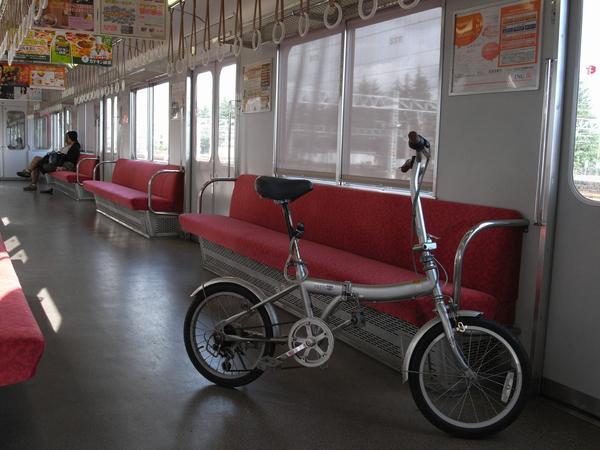 自転車はそのまま乗車可
