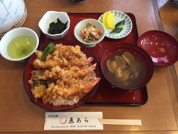 魚あら かき揚げ丼♡