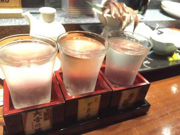日本酒利き酒セットとともに