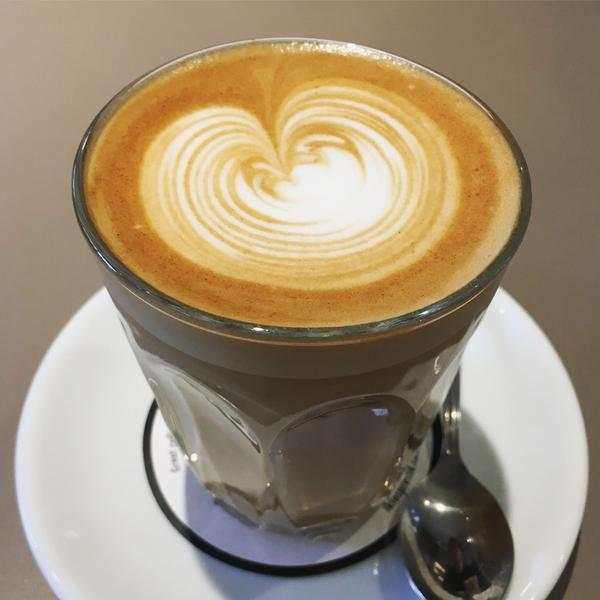 ホットのカフェラテ♡