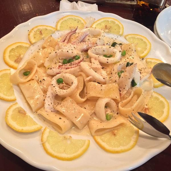 イカのレモンクリームパスタ