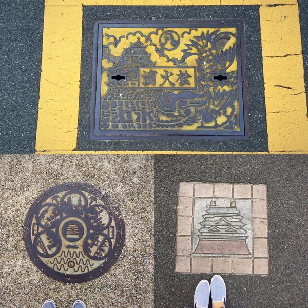 名古屋城周辺マンホール