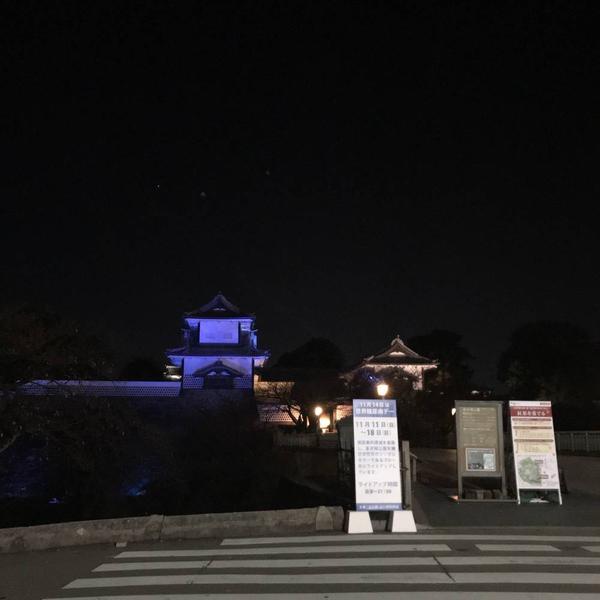 金沢城もライトアップ