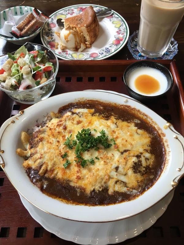 焼きチーズカレーセット ¥800