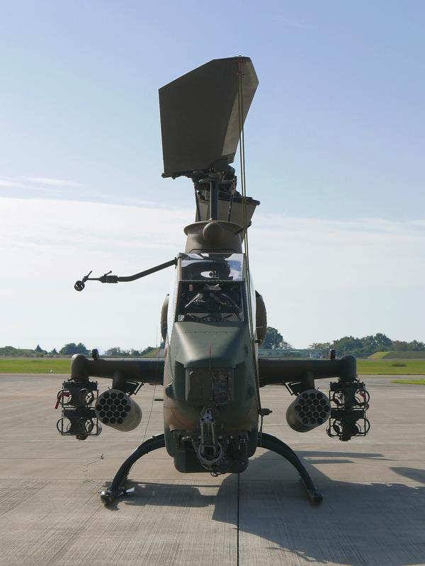 戦闘ヘリの正面