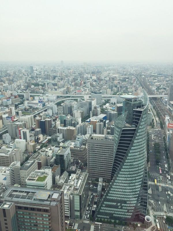 名古屋の街を一望