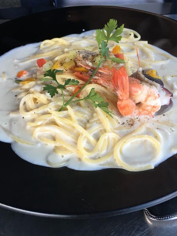 私はいつもドリアだけど、スパゲティも美味しい٩(^‿^)۶