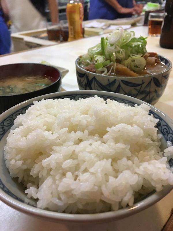モツ煮定食 ¥800?